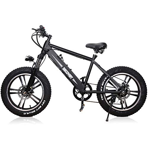 Nakto Fat Tire Electric Bicycle – Discovery 20″ – Black – 36V 10AH – 350W