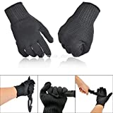 Rayauto 1Pair Butcher Gloves Cut Metal Mesh Anti-Cutting Breathable Stainless Steel Safety