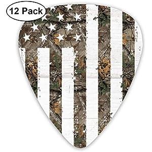 Premium Guitar Picks-12 Pack Interstellar Camouflage Celluloid Sampler mit amerikanischer Flagge Enthält dünne…