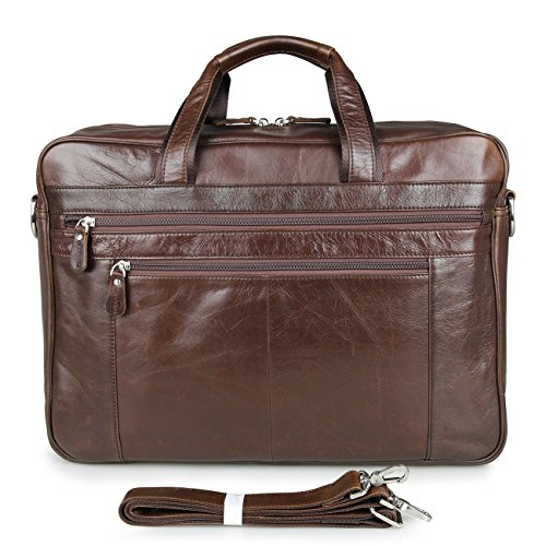 Mens Leather Briefcase Vintage 17