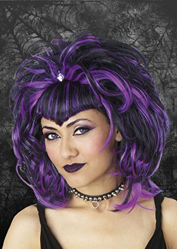 Ladies Gothic Purple Vampiress Wig -