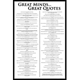Great Minds Famous Motivational Quotes Poster 24 x 36 inches