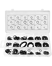 225 Pcs Internal Circlips Snap Retaining Ring Assortment Kit, 18 Size Alloy Steel External C-Clip Washer Ring Set, Size 6mm-32mm