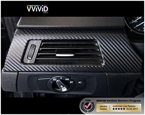 VViViD XPO Dark Grey Carbon Fiber 5ft x 3ft Car Wrap Vinyl Roll with Air Release Technology