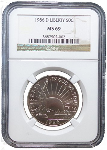 1986 D Liberty Half Dollar Commemorative Half Dollar NGC MS69 ()
