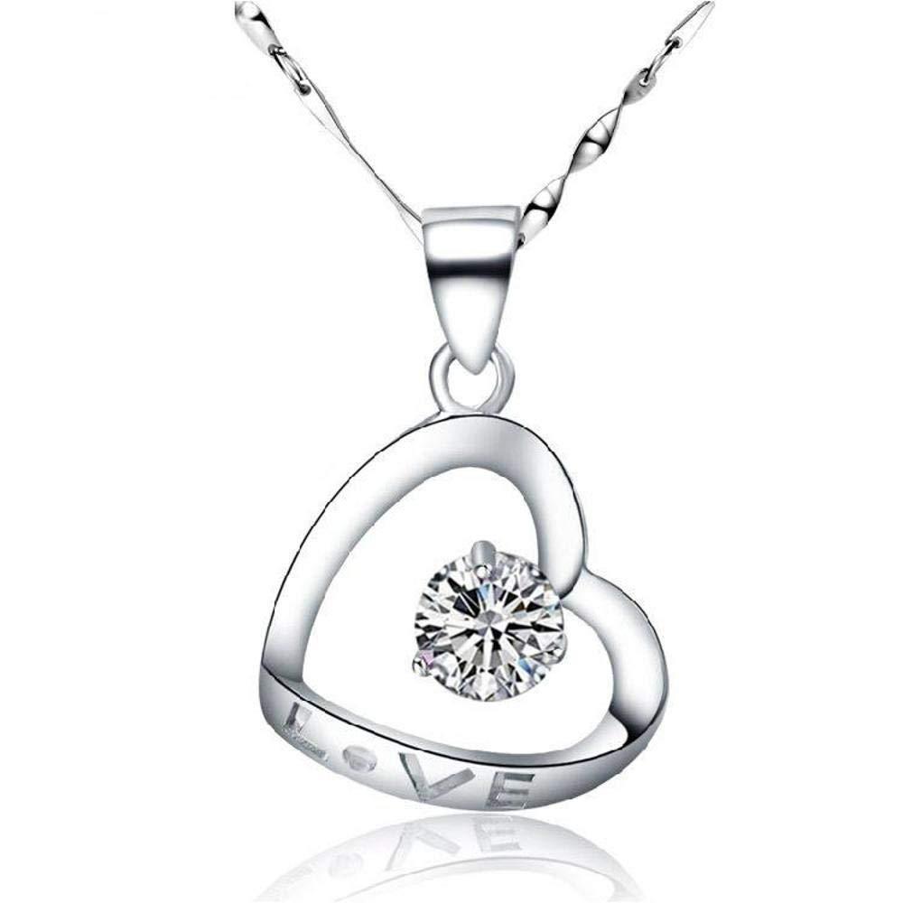 Weiduoli s925純銀のハート型の愛のペンダントネックレスの女性のギフト   B07LDLZVX2