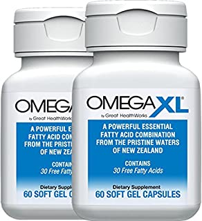 OmegaXL® 2 Pack 60 Ct - Omega 3 Free Fatty Acids, Ultra Effective NATURAL