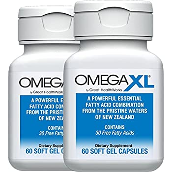 OmegaXL® 2 Pack 60 Ct - Omega 3 Free Fatty Acids, Ultra Effective NATURAL Pain Relief Supplement helps with JOINT PAIN & INFLAMMATION - No fishy aftertaste ...