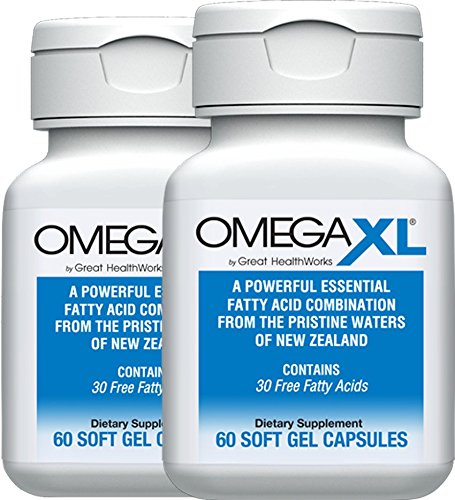 OmegaXL® 2 pack All-Natural Powerful Omega-3 Health Supplement with DHA and EPA to Help Relieve Joint Pain Due to Inflammation