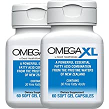 OmegaXL ® 2 pack All-Natural Powerful Omega-3 Health Supplement with 30 Healthy Fatty Acids, including DHA and EPA to Help Relieve Joint Pain Due to Inflammatory Conditions - Omega XL