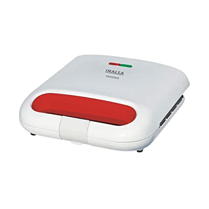 Inalsa Phoenix 750-Watt 2 Slice Sandwich Maker (White/Red)