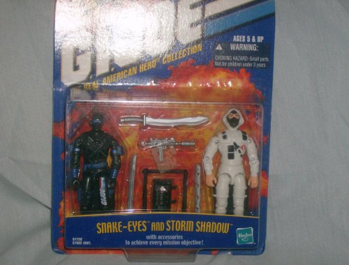 Snake Eyes and Storm Shadow GI Joe The Real American Hero Collection 2-Pack ()