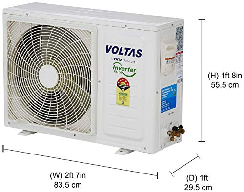 Voltas 1 Ton 5 Star Inverter Split AC (Copper 125V DZV White)
