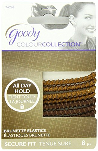 Goody Womens Colour Collection Sparkly Metallic Elastic SPH, Brunette 8CT