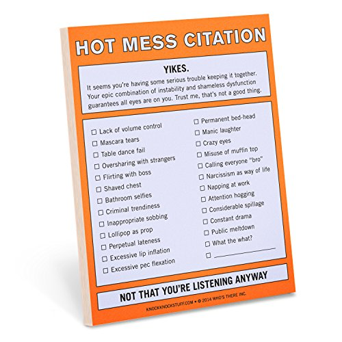 Knock Knock 12097 Nifty Note Pad, Hot Mess Citation