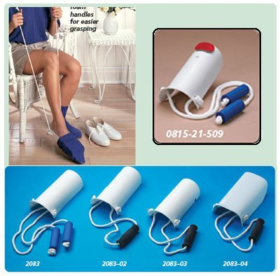 Sock and Stocking Aid with Built-Up Foam Handles Pediatric, 6½''L, 24'' (16.5-612cm) Cord by Rolyn Prest