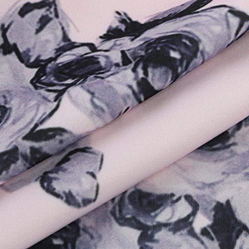 Stampa Classiche Primavera Donna Vintage Grazioso Fiore Beige Giacche Giacca Moda Di Donne Stampati Sciolto Giubbino Cappotto Autunno 8dpxw6qPf