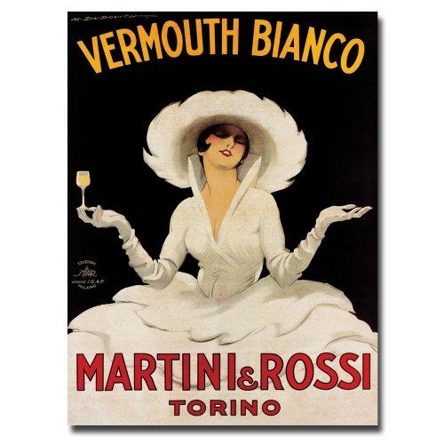 (Vermouth Bianco Martini & Rossi by Marcello Dudovich, 14x19-Inch Canvas Wall Art)