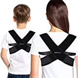 Back Posture Corrector Brace for Women, Children Over 10, Teens, LotFancy Adjustable Clavicle Brace Support for Orthopedic Kyphosis Bad Posture, Small (30'-36' in Chest Circumference)
