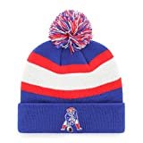 OTS NFL New England Patriots Men's Rush Down Cuff Knit Cap with Pom, Legacy, One Size