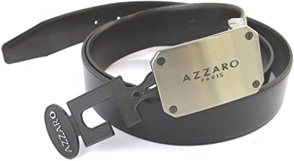 Leather belt Azzaronavy black . 1.38 43.31 110 cm 35 mm