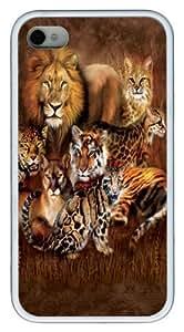 Cat Power Big Cat Custom iPhone 4s/4 Case Cover TPU White