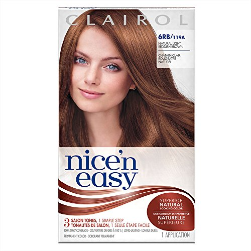 Clairol Nice 'n Easy Hair Color 119A, 6RB Natural Light Reddish Brown 1 Kit (Pack of 3)
