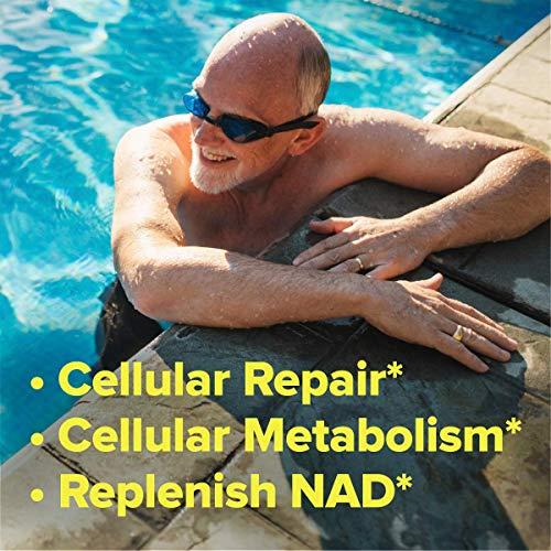 51eiEY7ACaL - TRU NIAGEN Nicotinamide Riboside - Patented NAD Booster for Cellular Repair & Energy, Vitamin B3 Niacin NMN, 150mg Vegetarian Capsules, 300mg Per Serving, 60 Day Bottle