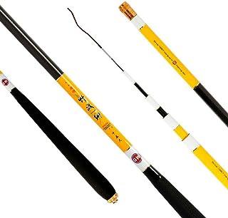 LXD Canne à pêche, télescopique Canne à pêche rétractable Tige Filature pour Poids léger de Fibre de Carbone Basse de Voyage en Plein air