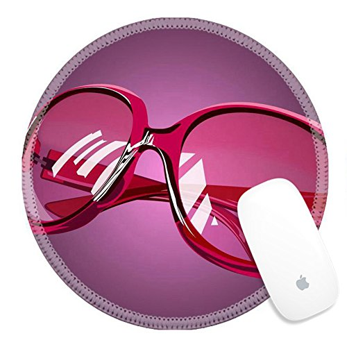 Luxlady Round Gaming Mousepad pink sunglasses IMAGE ID - Sunglasses Image Eyewear