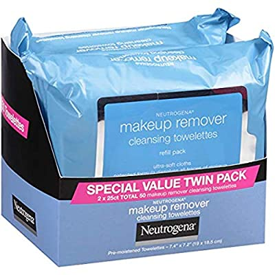 Neutrogena Makeup Removing Wipes, 25 Count, Twin Pack (.4 Pack) from Neutrogena