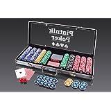 """Piatnik 7904 """"500 Chips - High Gloss"""" Poker Set in Aluminum Case"""