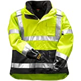 "Tingley Icon 3.1 Premium 3-in-1 Insulated Jacket, ANSI/ISEA Class 3, High Visibility Green/Yellow with 2"" Silver Reflective Stripes, Removable 300 Gram Fleece Liner/Jacket, Waterproof/Breathable Outer Shell, Size: 2XL (J24172-2XL)"