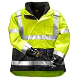 Tingley Icon 3.1 Premium 3-in-1 Insulated Jacket, ANSI/ISEA Class 3, High Visibility Green/Yellow with 2'' Silver Reflective Stripes, Removable 300 Gram Fleece Liner/Jacket, Waterproof/Breathable Outer Shell, Size: 3XL (J24172-3XL)