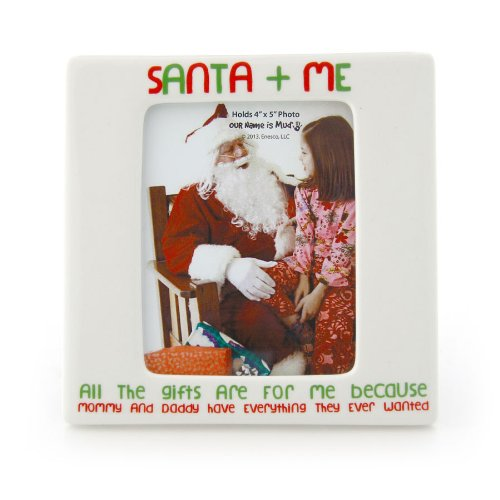 Enesco Our Name is Mud Santa and Me Photo Frame Ornament by Lorrie Veasey