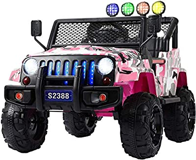 Uenjoy Ride on Car with Remote Control Motorized Car for Kids 12V Electric Car for Kids W/ Music& Story Playing, Colorful Lights from Uenjoy