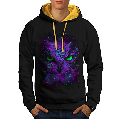 Amazing Wild Owl Fun Giant Bird Men S Contrast Hoodie | Wellcoda ()