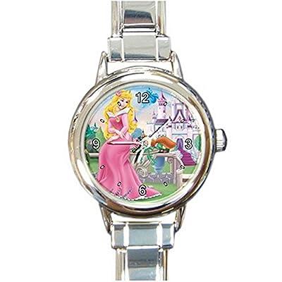 Disney Princess Aurora Cartoon Custom Design Round Italian Charm Watch Limited Edition#1