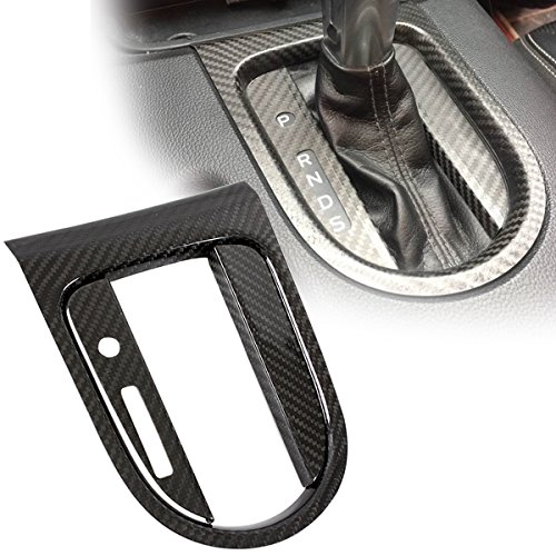 CARBON FIBER SHIFTER GEAR BOX CONSOLE TRIM COVER FOR 2015-17 MUSTANG-AUTO ONLY