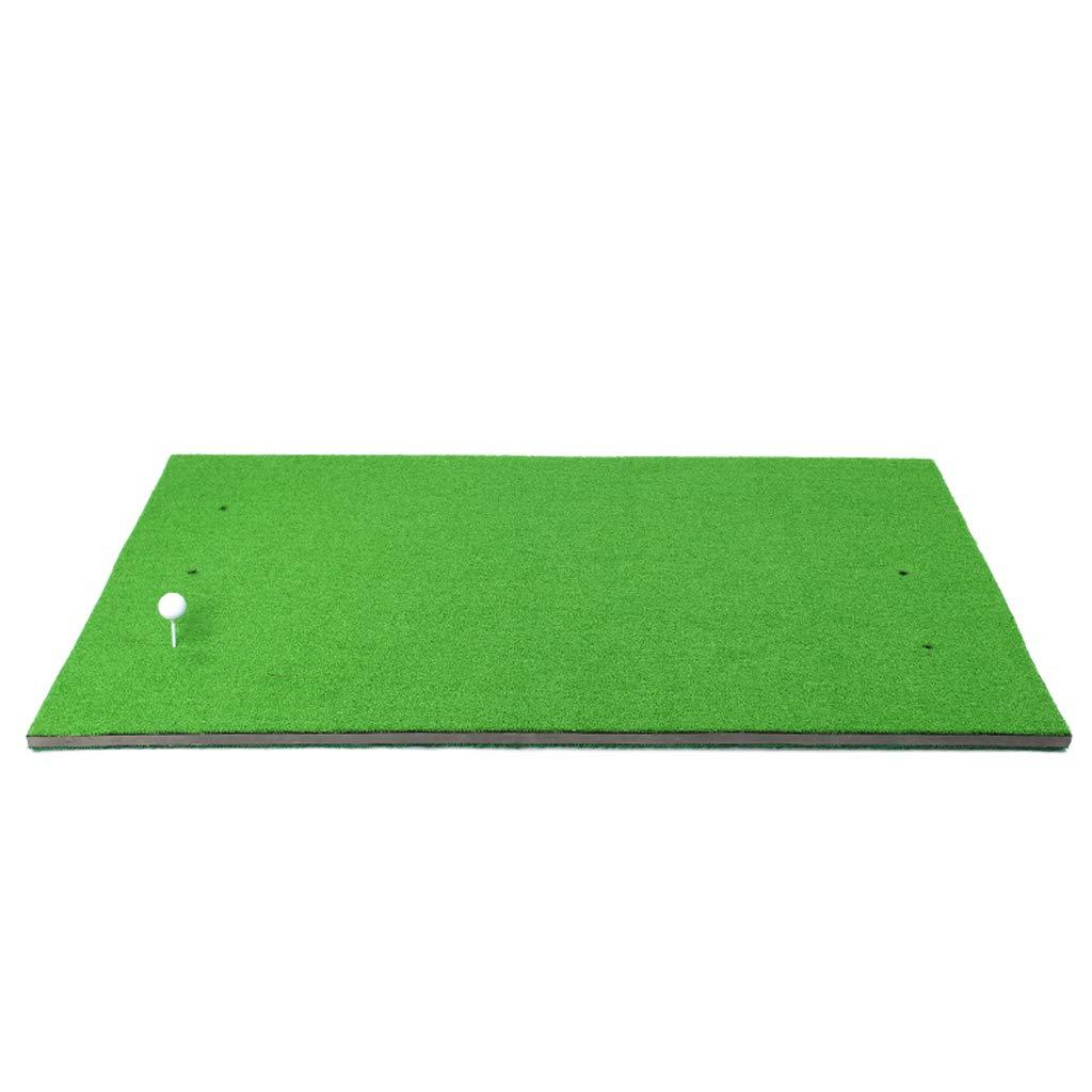 ゴルフマット、ポータブルシミュレーション両面短芝スイング実習マット、屋内外