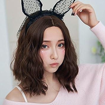Amazon Com Girls Sub Bangs Wig Long Hair Shoulder Length Curly
