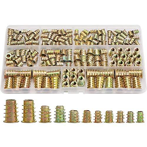 Tuercas de sierra juego de herramientas de madera tornillo para sierra 165 unidades M4 // M5 // M6 // M8