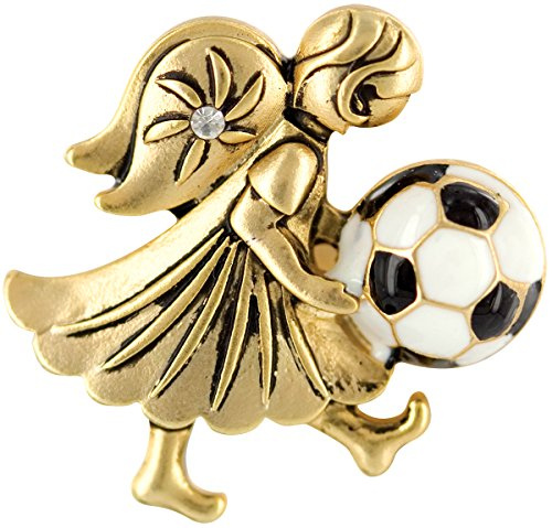Wings and Wishes Angel Tac Pin, Soccer Angel Angle Pins