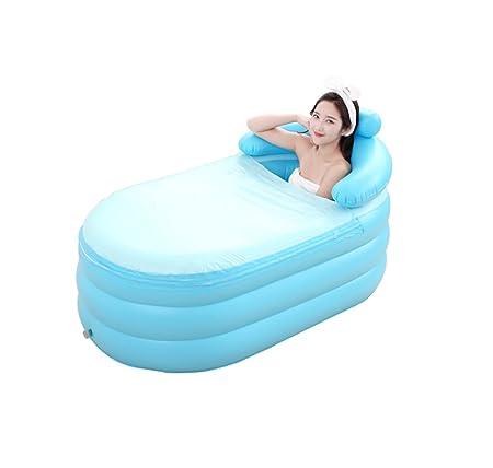 LYM & bañera Plegable Bañera Inflable para Adultos Bañera para ...