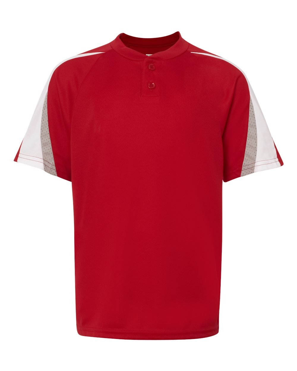 Augusta Sportswear Boys ' Power Plus野球ジャージー B007P86B2G Small|Red/White/Silver Grey Red/White/Silver Grey Small