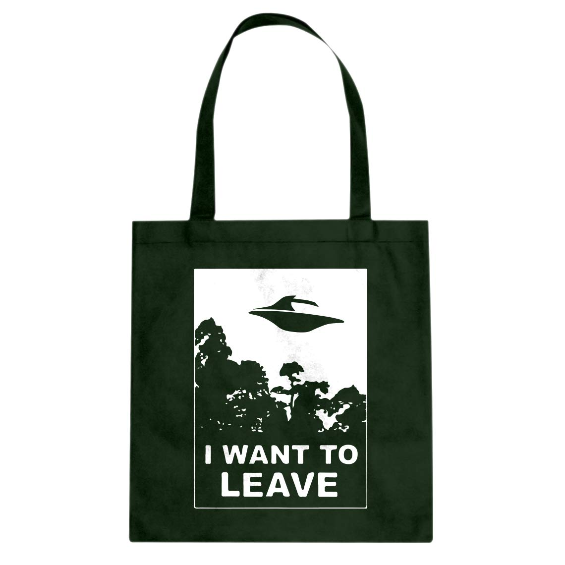Indica Plateau I Want to Leave Cotton Canvas Tote Bag