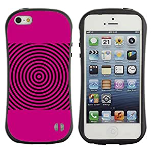 Be-Star Impreso Colorido Diseño Antichoque Caso Del Iface Primera Clase Tpu Carcasa Funda Case Cubierta Par Apple iPhone 5 / iPhone 5S ( pink sound waves music disc vinyl )