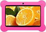 iROLA Kids Tablet PC-Quad Core, ARM Cortex A9, Android 4.4, 512MB RAM, 8GB ROM, Expandable Memory Up To 32GB, 800x480, Dual Camera 2.0MP, Multi-touch Screen, Google Play Pre-installed, Shockproof/Anti-scratch Kids Case, Accessory Kit (Pink Case)