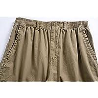 YangguTown YGT Men's Elastic Waist Cleaning Cargo Pants Lightweight Cotton Workwear-waist