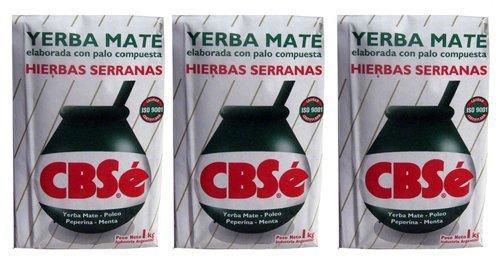 New Yerba Mate (Yerba Mate CBSe x 3 KG Argentina Green Tea 6.6 lb Natural Herb Bag Slim Diet New)